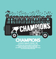 Football Or Soccer Champions Celebrate On Bus vector image vector image
