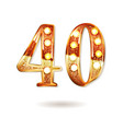 forty years anniversary celebration logotype vector image