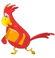 Funny Parrot Courier vector image vector image