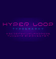 futuristic hi-tech typography modern cyber font vector image vector image