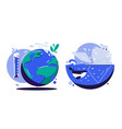 global warming concept cartoon vector image