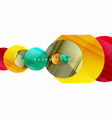 glossy colorful circles abstract background vector image