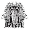 Gothic t-shirt design vector image
