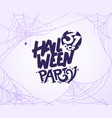 halloween party banner template with calligraphic vector image vector image