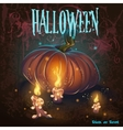 halloween with candles pumpkin flame vector image vector image