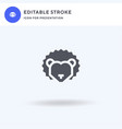 hedgehog icon filled flat sign solid vector image vector image