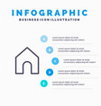 home instagram interface line icon with 5 steps vector image vector image