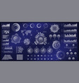 hud futuristic virtual user interface set vector image