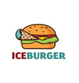 ice burger concept vector image vector image