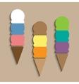 Ice-creams in waffle cones vector image