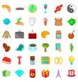 jar icons set cartoon style vector image vector image