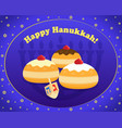 jewish holiday of hanukkah happy hanukkah vector image vector image