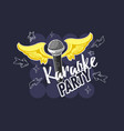 karaoke party music design with a microphone and vector image vector image