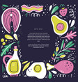 keto diet flat hand drawn poster template vector image