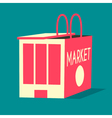 Market and shopping bag flat vector image vector image