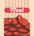 meat steak pieces menu restaurant poster vector image