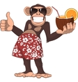 Monkey with a cocktail vector image vector image