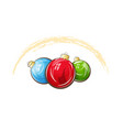 multicolored christmas balls vector image vector image