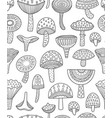 mushrooms ink seamless pattern coloring book page vector image vector image