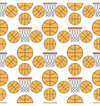 orange basketball ball seamless pattern background vector image