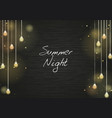 party light on blackboard background vector image
