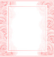pink rose banner card border vector image vector image