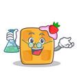 professor waffle character cartoon design vector image vector image