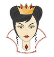 queen in a crown with precious stones in royal vector image