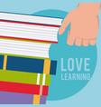 reading books cartoon vector image vector image