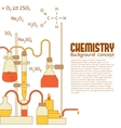 Retro experiments in a chemistry laboratory vector image vector image