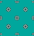 seamless pattern with flat flowers on a blue vector image vector image