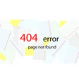 service message on the site error 404 - page not vector image