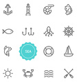 set sea food elements can be used as logo or vector image