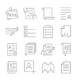 simple set of document flow management line vector image vector image