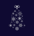 snowflake bell christmas and new year vector image vector image