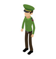 soldier american icon isometric 3d style vector image