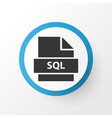 sql icon symbol premium quality isolated database vector image