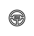 srs airbag on steering wheel icon vector image