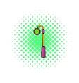 Street clock icon comics style vector image