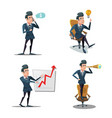 successful businessman cartoons vector image vector image