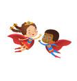 superhero friend character costume vector image vector image