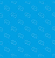 talk pattern seamless blue vector image vector image