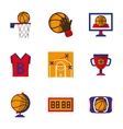 Team sport icons set Basketball vector image vector image