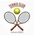 Tennis team club label vector image vector image