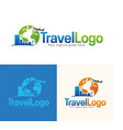 travel icon and logo vector image vector image