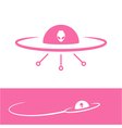 Ufo icon alien flying saucer vector image