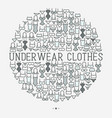 underwear clothes concept in circle vector image vector image