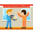 Unique product offering vector image vector image