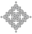viking decoration knot - chaned squares snake vector image