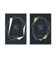 wedding invitation cards trendy luxury card with vector image vector image